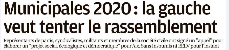 Lancement de Aix en Partage. La Provence en parle.