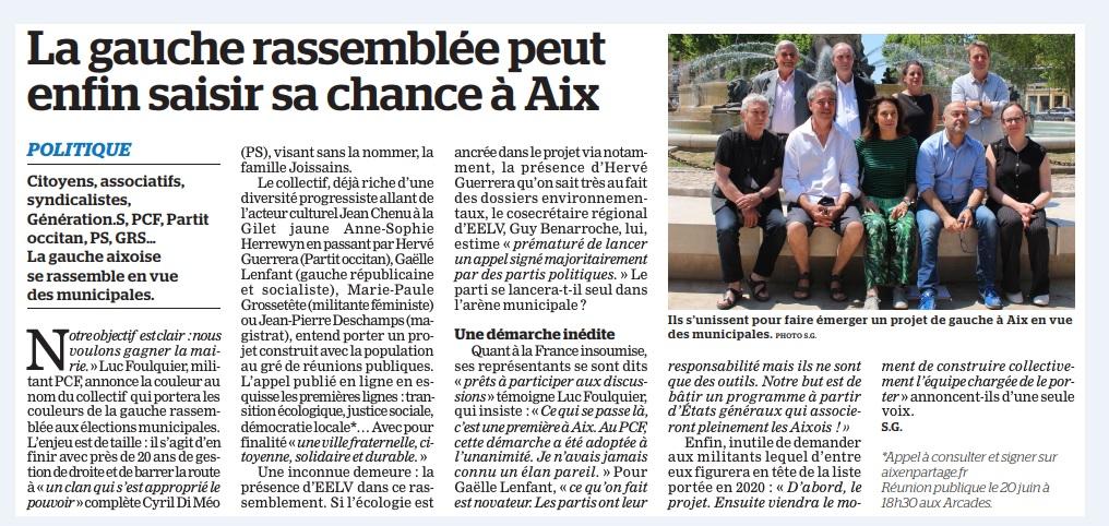 Lancement de Aix en Partage. La Marseillaise en parle.