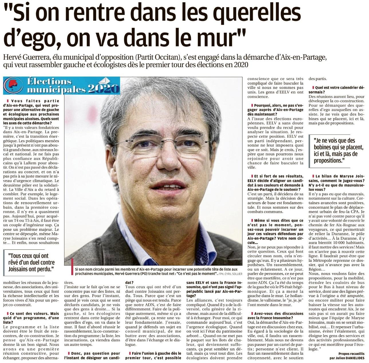 Interview d'Hervé Guerrera sur la démarche d'Aix en Partage