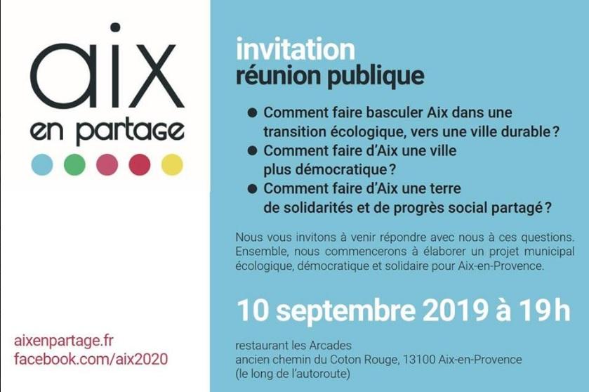 Réunion publique le 10 septembre. Élaborons un programme municipal