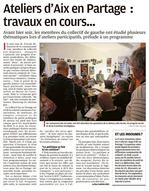 Aix en Partage : les ateliers au travail