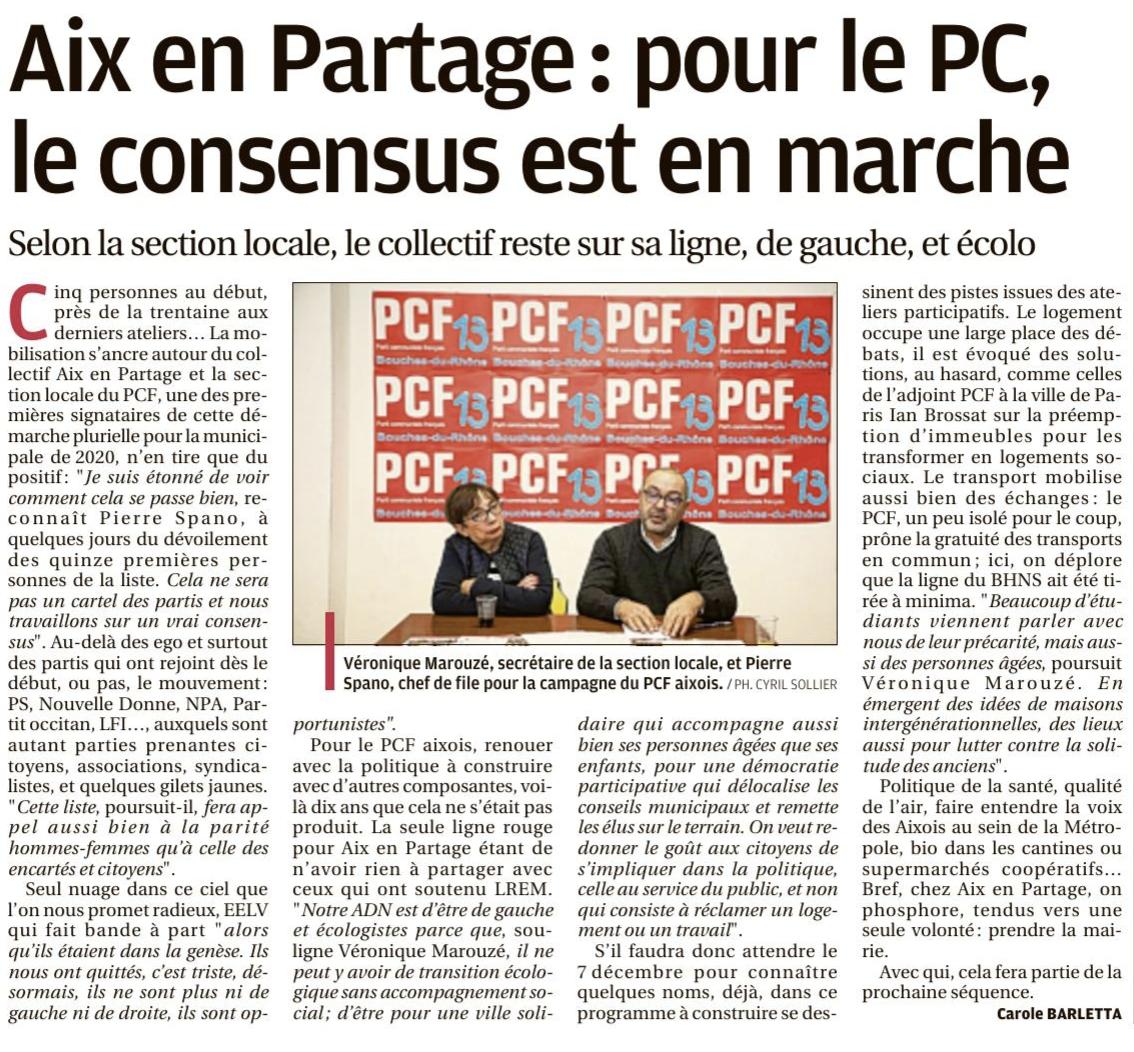 Le PCF avec Aix en Partage