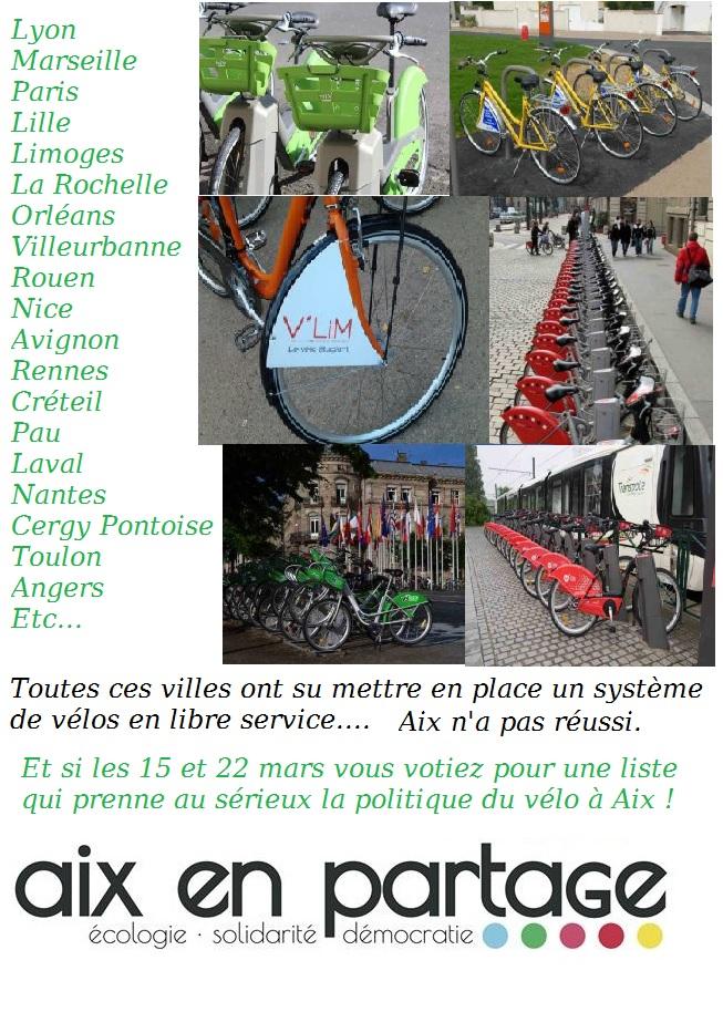 Vélo en libre service.. encore un raté Aixois