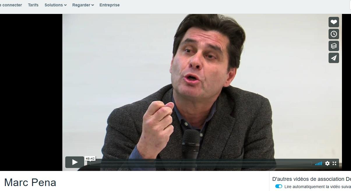 Quelle ville pour demain  ? : conférence de Marc Pena devant l'association Devenir le 14 janvier