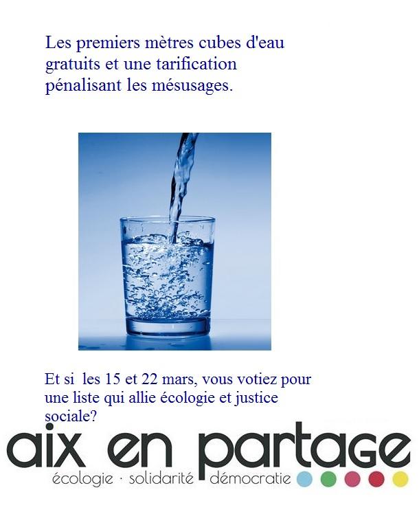 Pour la gratuité des premiers mètres cubes d'eau.