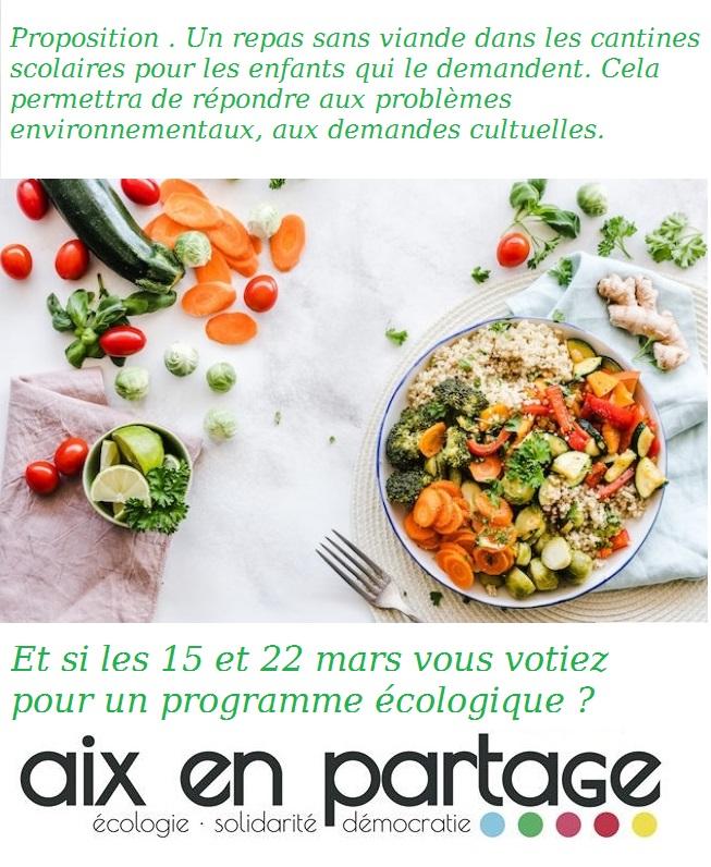 Pour des repas végétariens dans les cantines