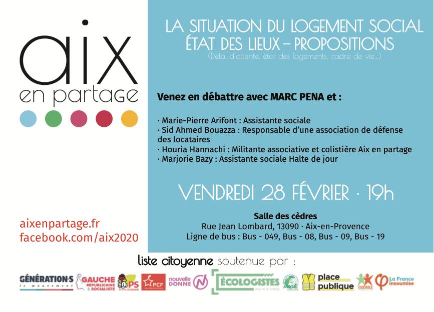 Comment améliorer la gestion du logement social à Aix  ? Rencontre le 28 février.